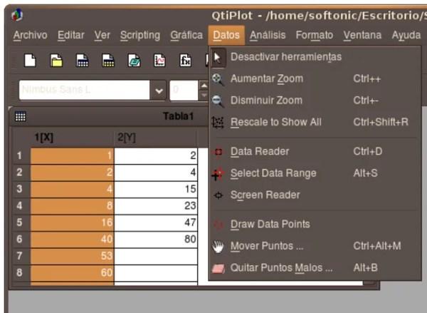 QtiPlot para Linux - Descargar