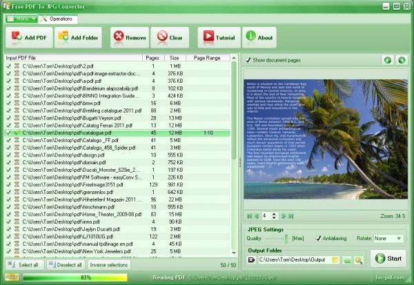 Free PDF To JPG Converter Download