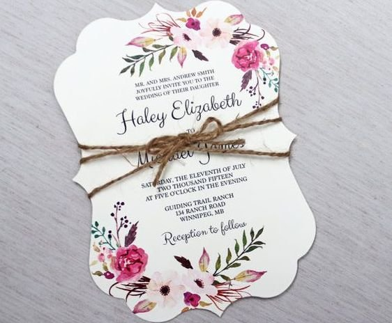 Last But Not The Least In Our List Is Simple Wedding Card For Those Who Love Marriage Of Traditional And Unconventional