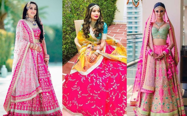 Image result for best color for wedding lehengas
