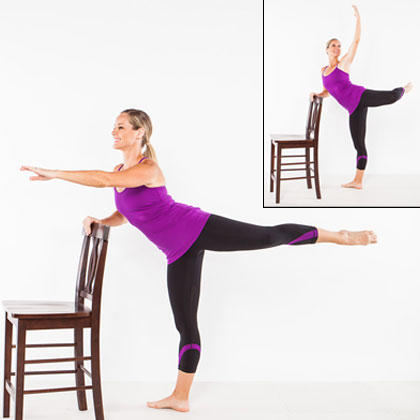 Image result for ballerina bar exercise with a chair