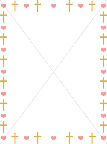 Pink And Yellow Dot Blue Border Polka