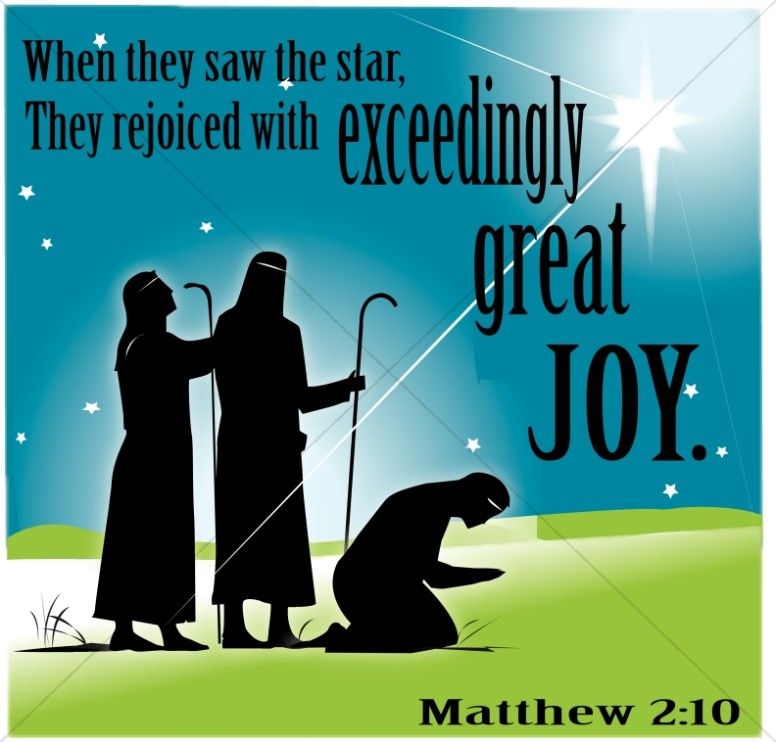 Wise Men Rejoicing With Joy Word Art Epiphany Clipart