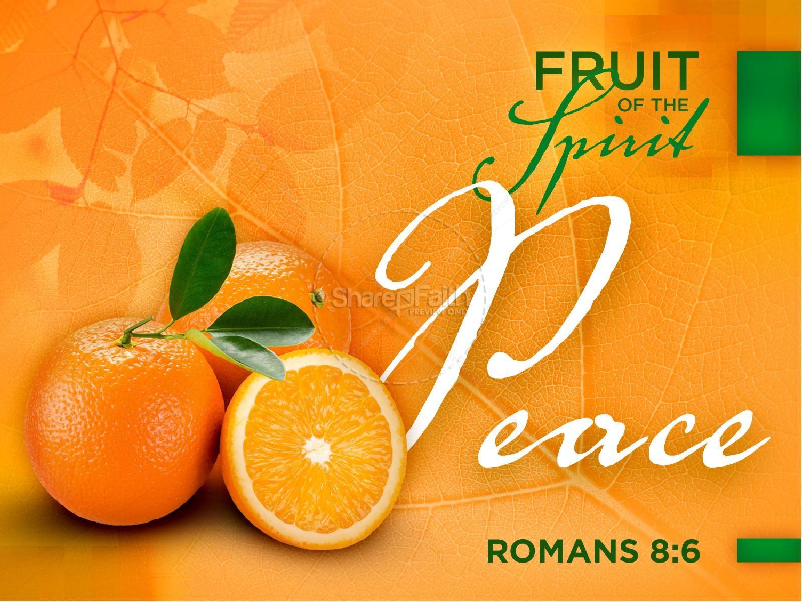 Peace Fruit Of The Spirit Pentecost Powerpoint Template