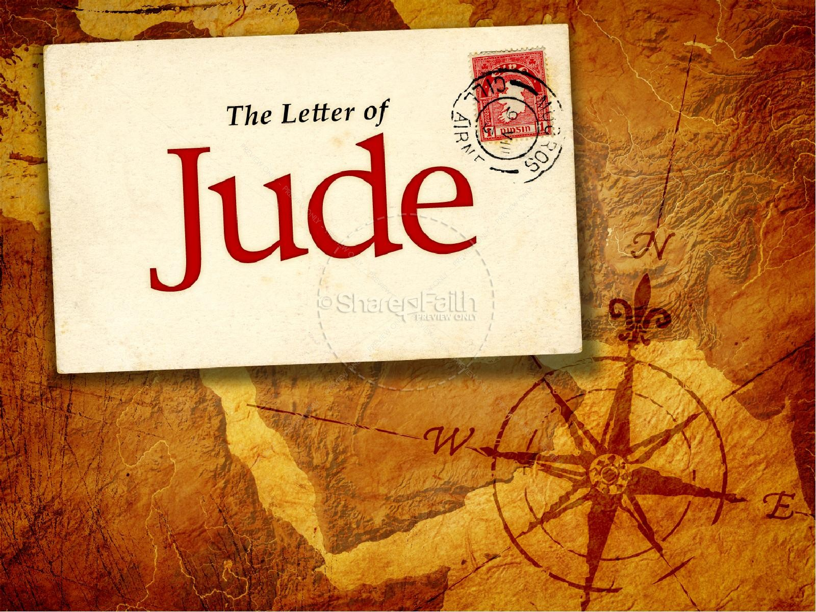 The Book Of Jude PowerPoint Template New Testament Books