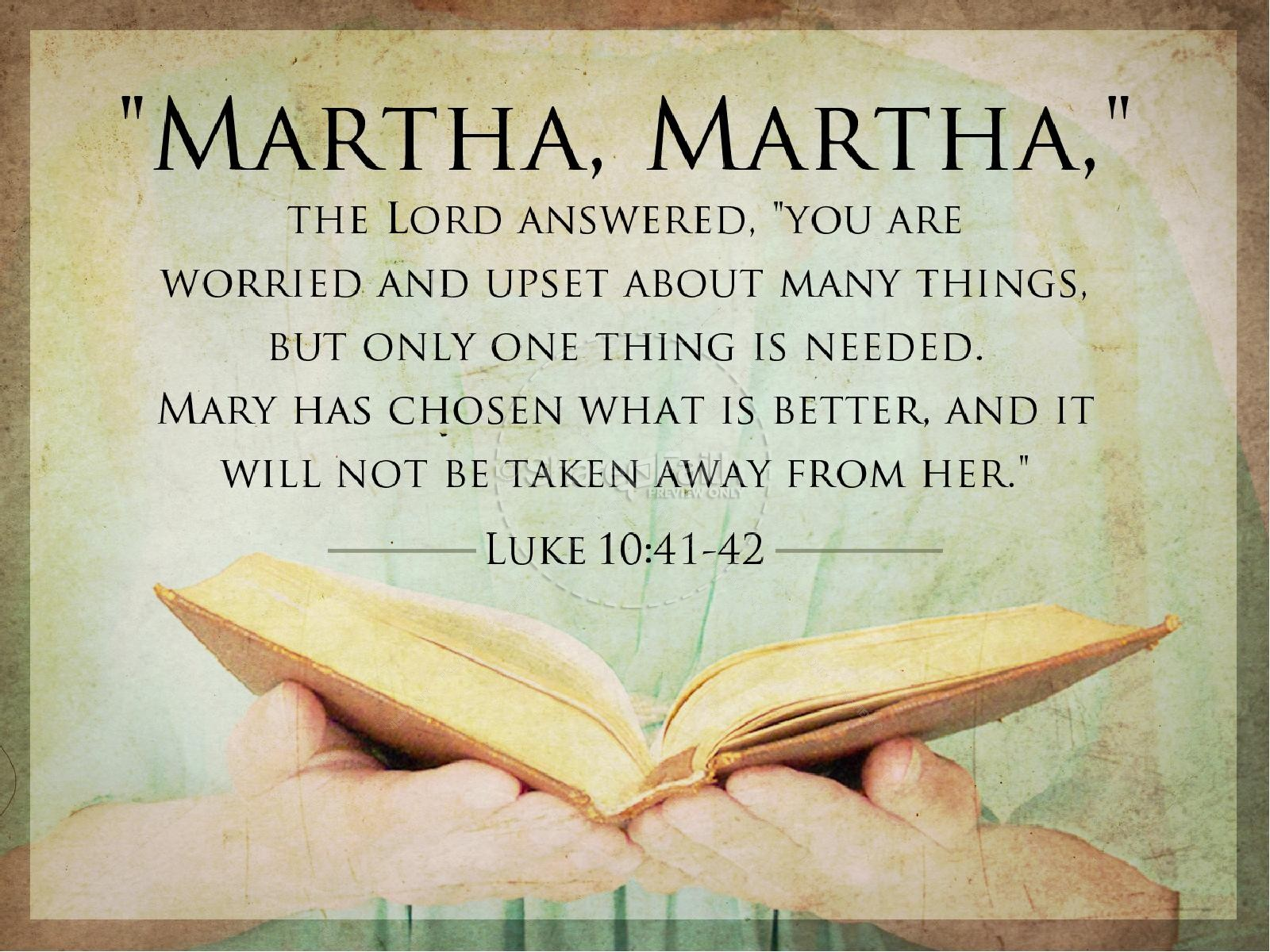 Image result for martha martha bible