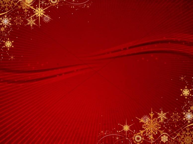 Gold Snowflake Christmas Background Worship Backgrounds