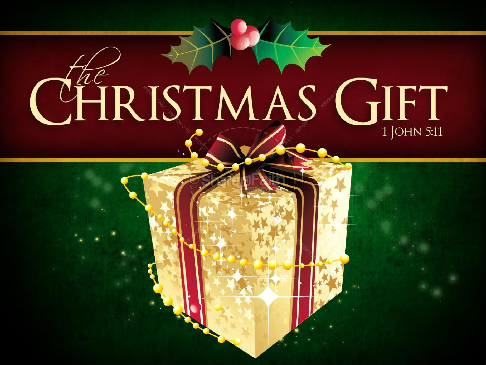 Christmas Gift PowerPoint Template Christmas PowerPoints
