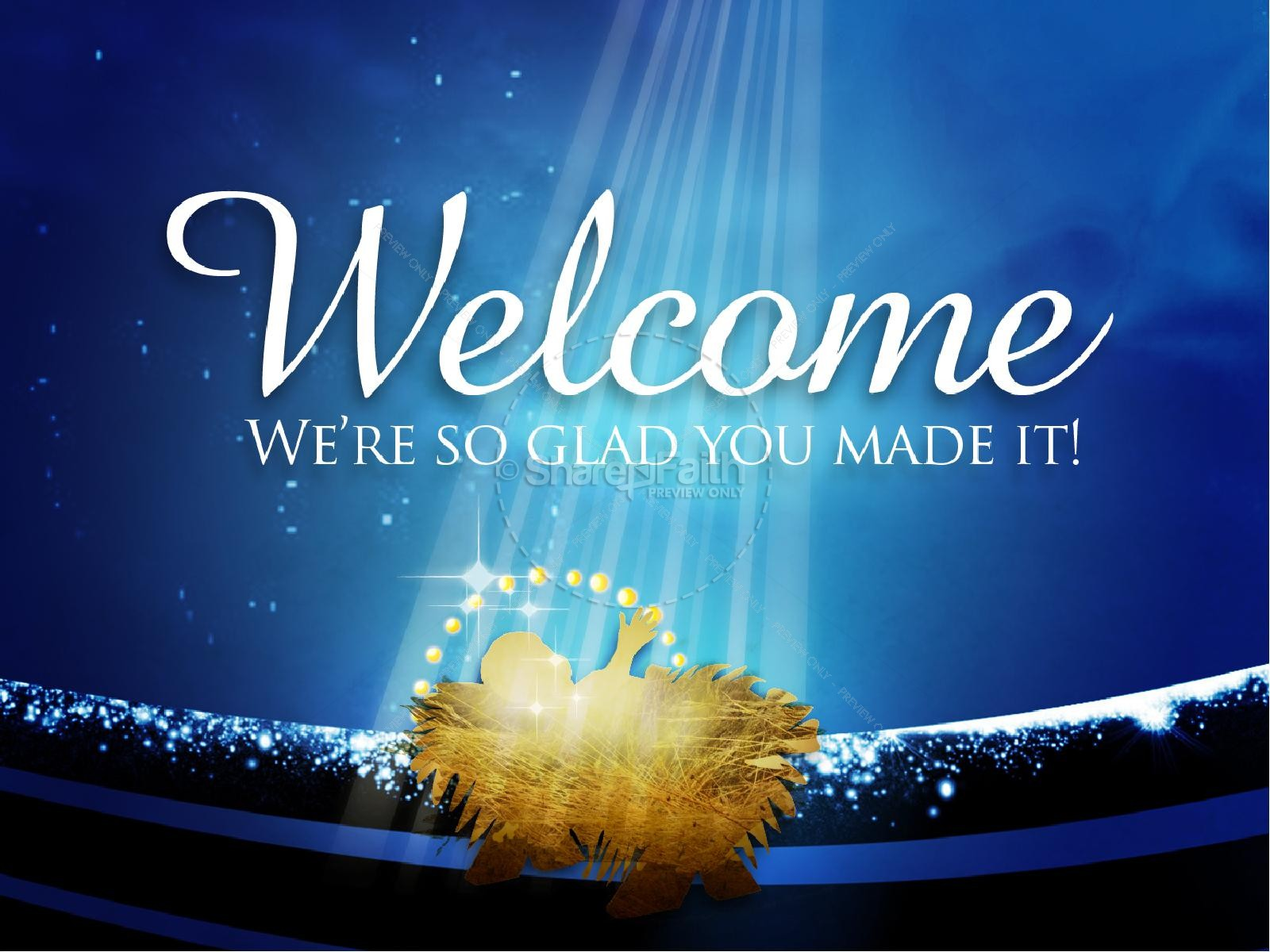 Welcome Church Christmas Powerpoint Template