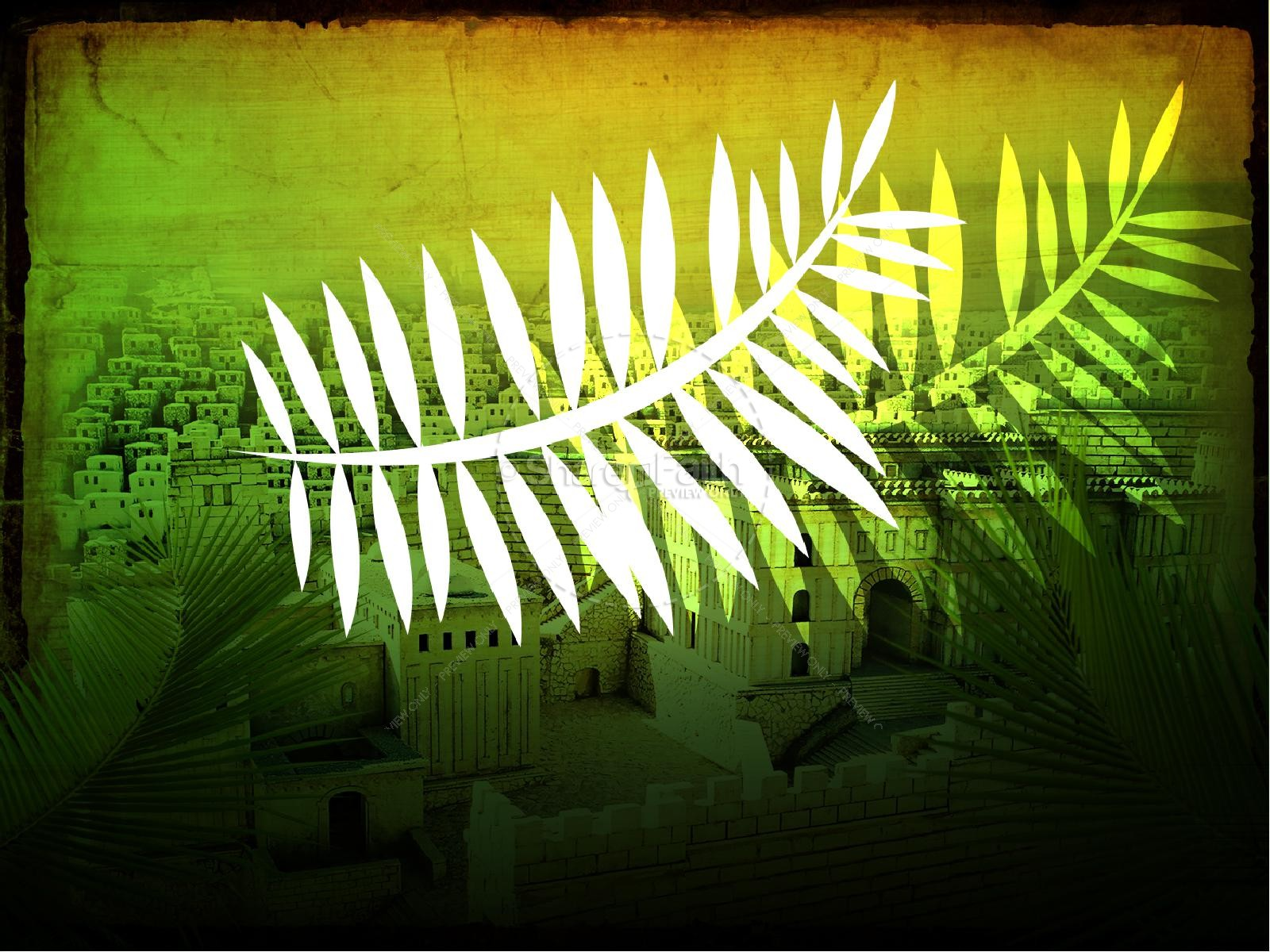 Palm Sunday PowerPoint Design Easter Sunday Resurrection