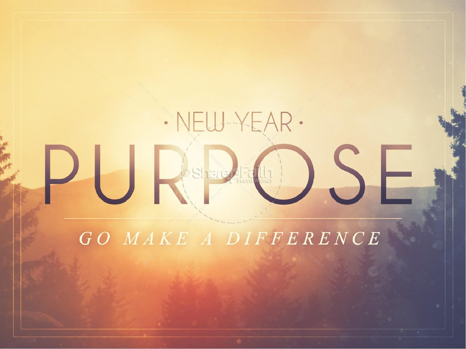 New Year Purpose Religious Happy New Year Video   Church Motion Graphics New Year Purpose Church PowerPoint