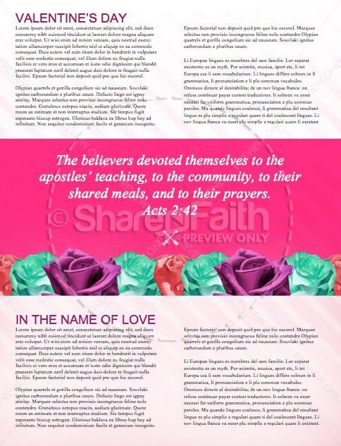 Valentines Day Banquet Christian Newsletter