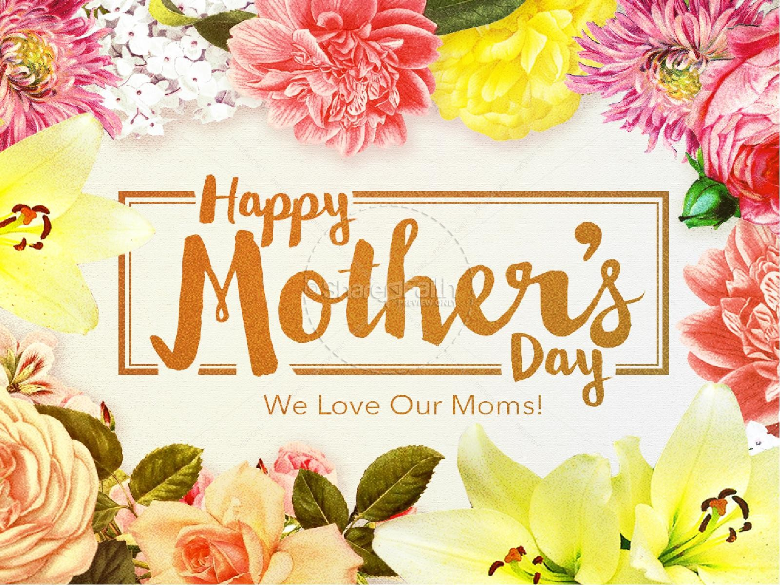 Happy Mother S Day Love Christian Powerpoint Mothers Day Powerpoints