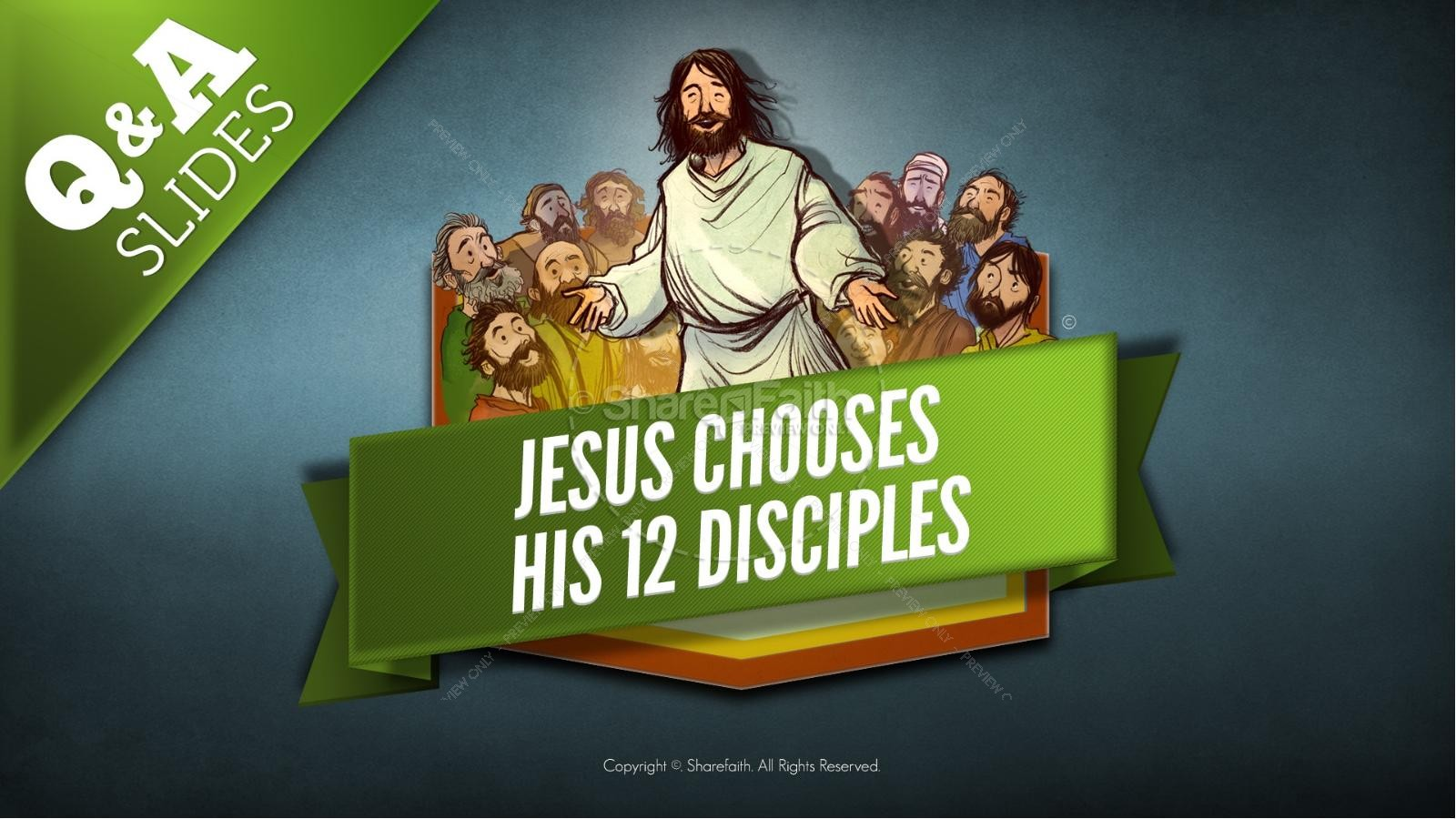 Jesus Chooses His 12 Disciples Kids Bible Story