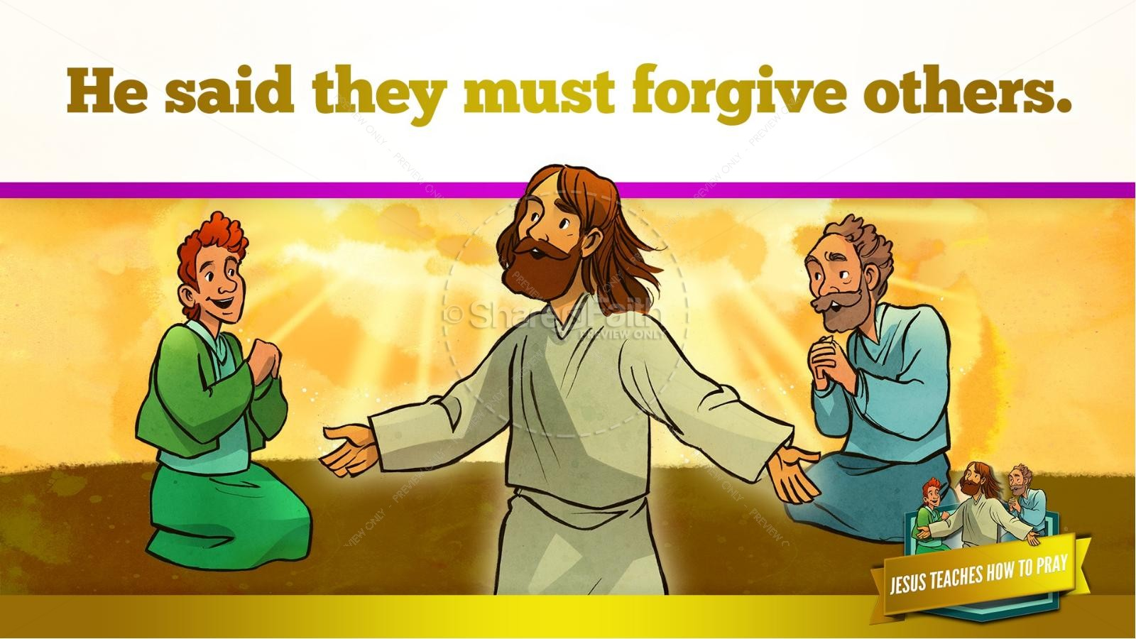 The Lord S Prayer Kids Bible Story
