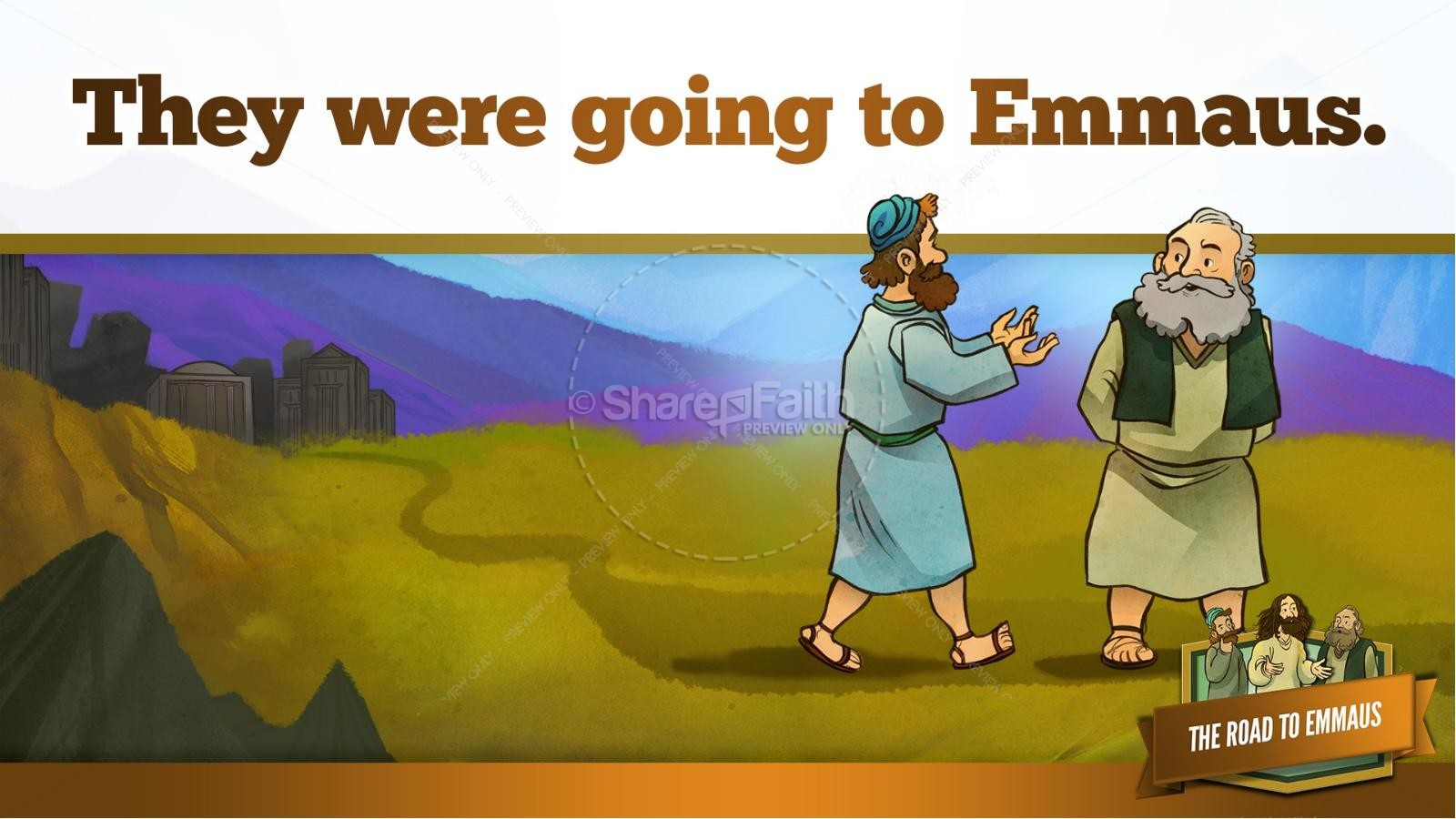 Luke 24 Road To Emmaus Kids Bible Stories Kids Bible Stories