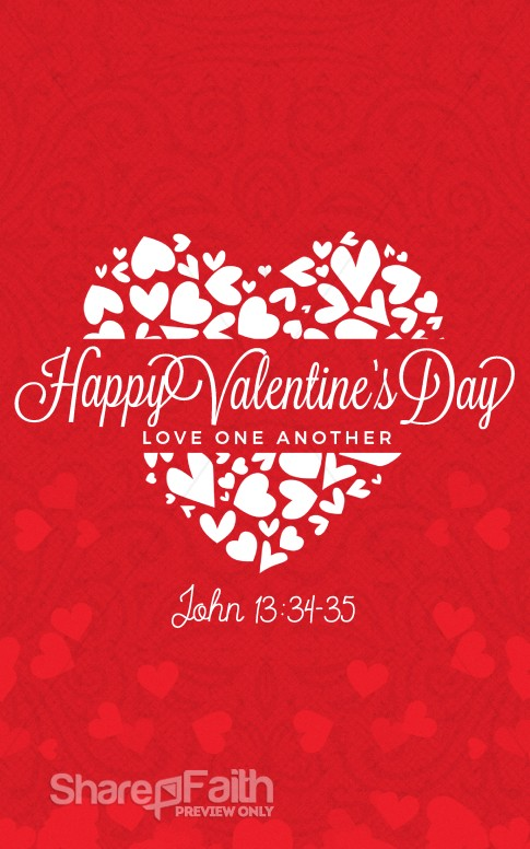 Happy Valentines Day Love One Another Church Bulletin