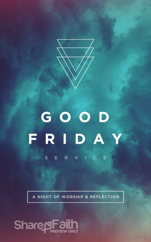 Good Friday Service Bulletin Cover Easter Bulletins