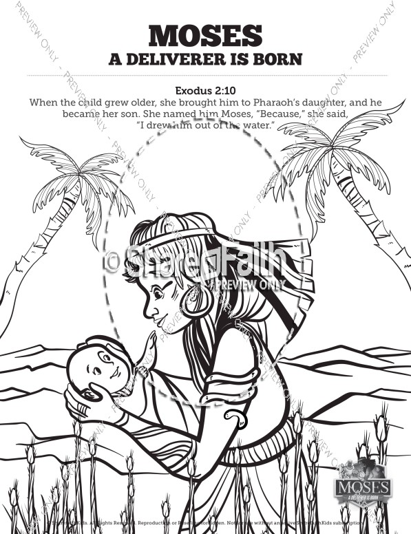 Exodus 2 Baby Moses Sunday School Coloring Pages Sunday School Coloring Pages