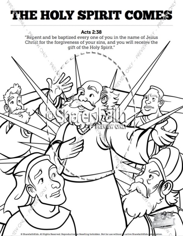 holy spirit coloring pages # 2