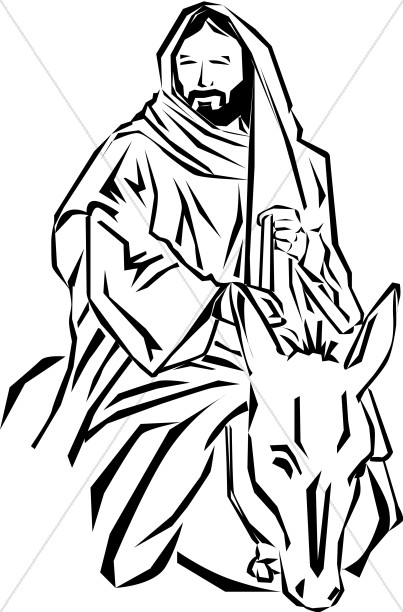Jesus of Nazareth Palm Sunday Clipart