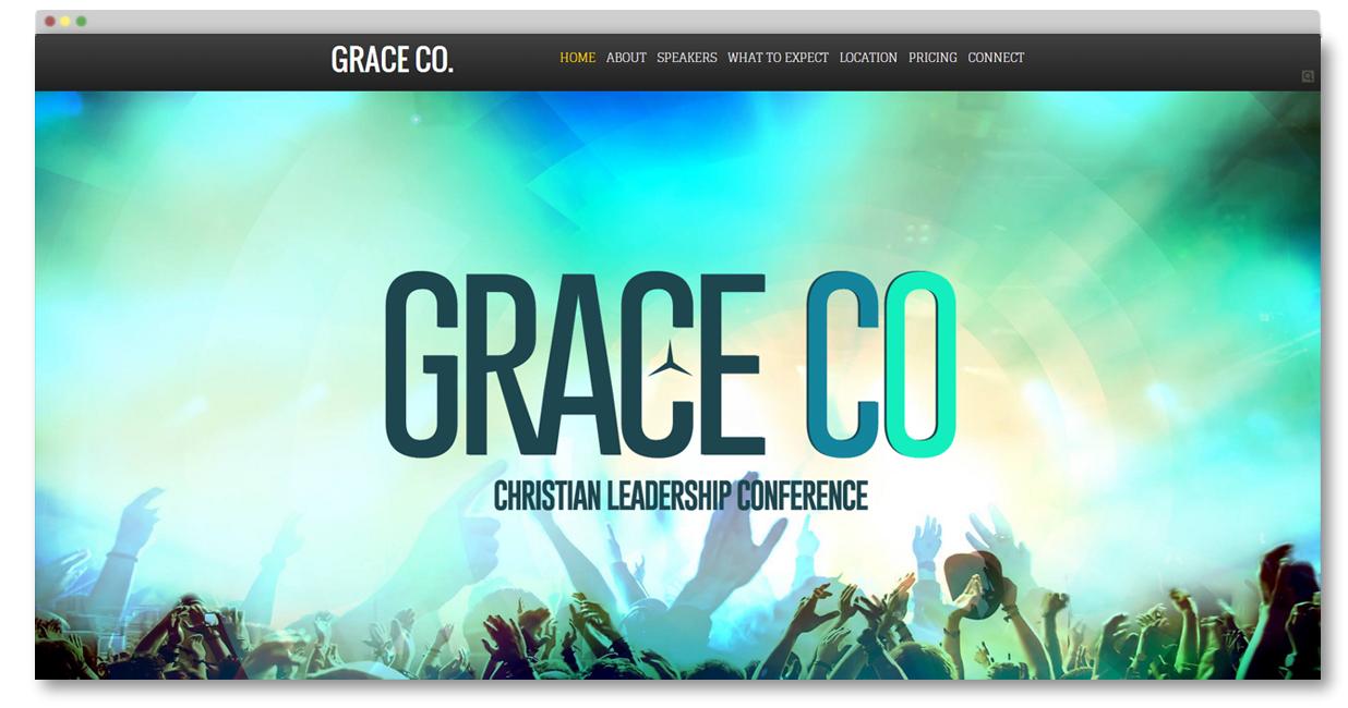 Christian Conference Website Template Conference Website Builder
