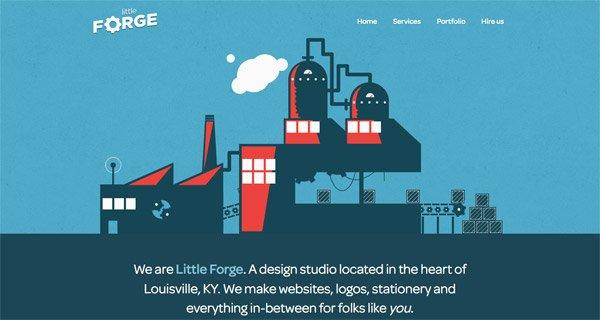 网页设计:Little Forge