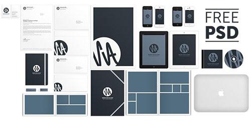 SvA MockUp 1.0 by Simon von Allmen 品牌视觉标识设计 VI设计