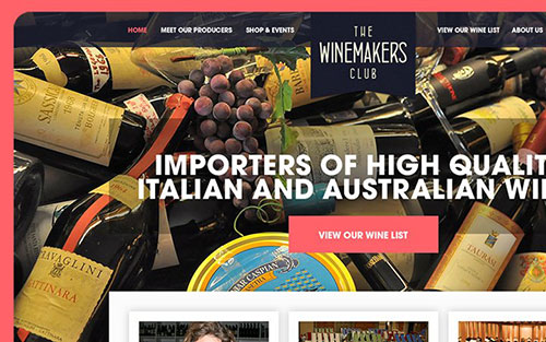 winemakers club homepage interface inspiration 网站首页