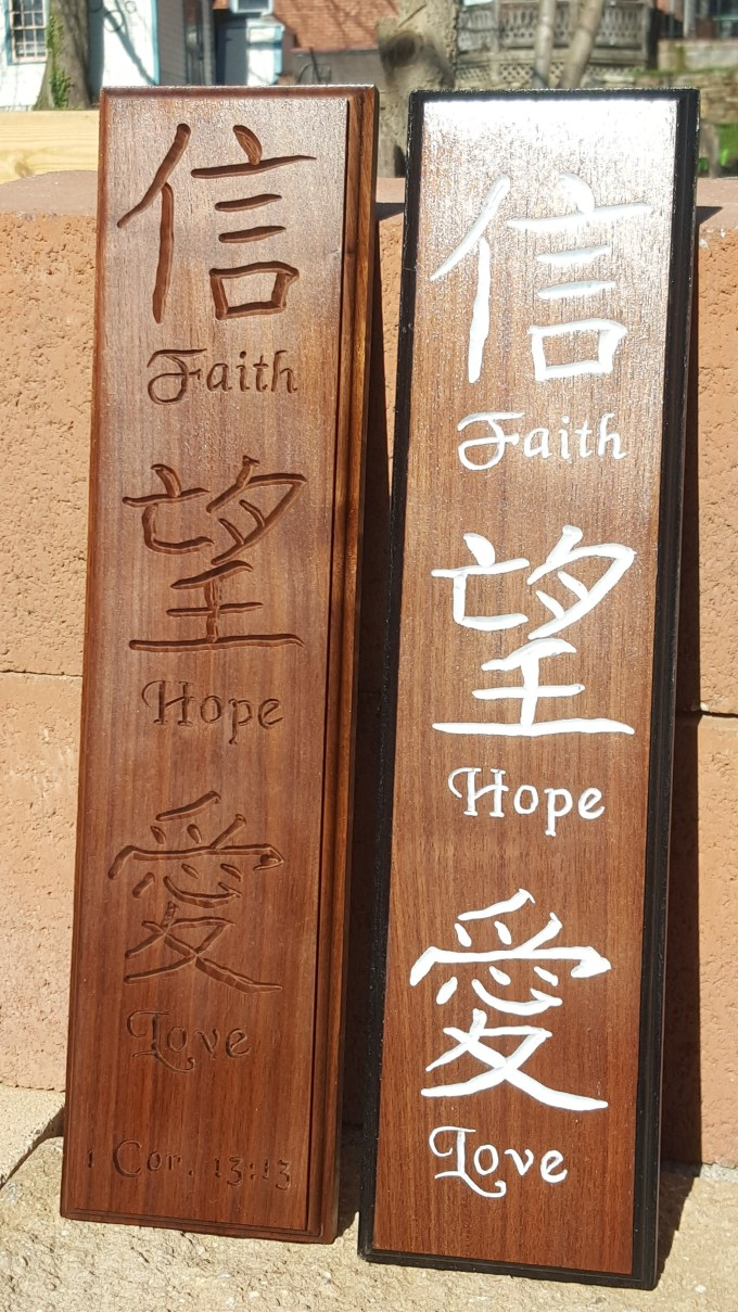 Faith Hope Love In Chinese Letters Letternew