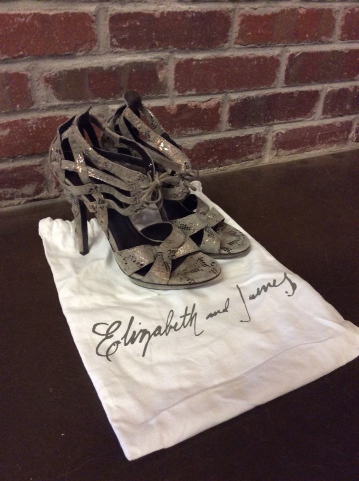 Elizabeth Amp James Stage 85 Corset Heels Plum Consignment