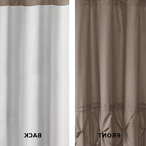 72x72 inches comin18ju075645 cavoy shower curtain comfort spaces taupe tufted pattern bath bathroom accessories