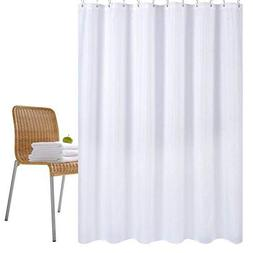 rust repellent metal grommets and waterproof mold repellent weighted hem 54 x 78 inches welwo fabric shower curtain liner with hooks for bathroom blue white stripe shower curtain extra long stall home kitchen bath