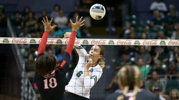 Women's Volleyball Knocks Of San Diego State, 3-1 - Hawaii ...