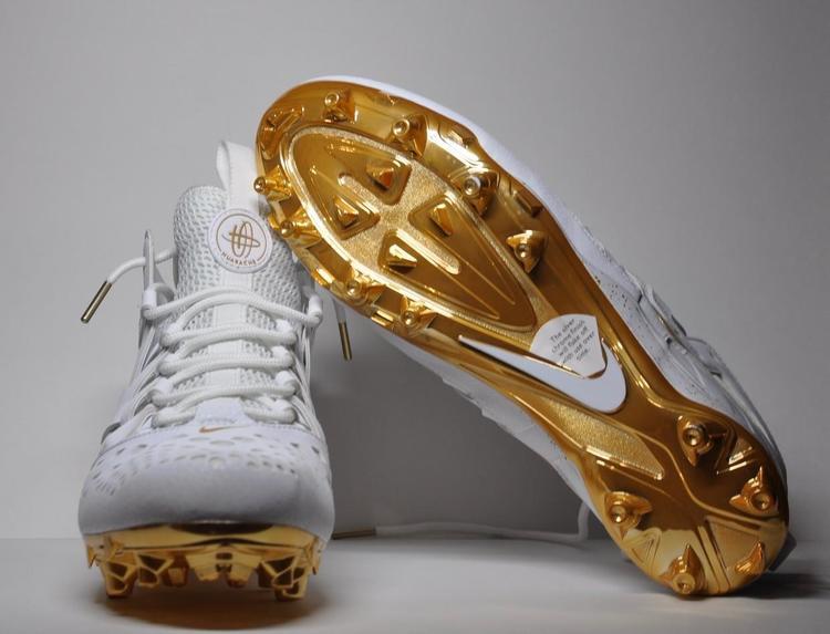 Nike Huaraches V Custom LD Gold Chrome SOLD Lacrosse