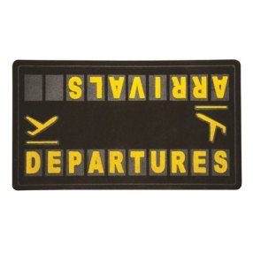 Departures and Arrivals Doormat