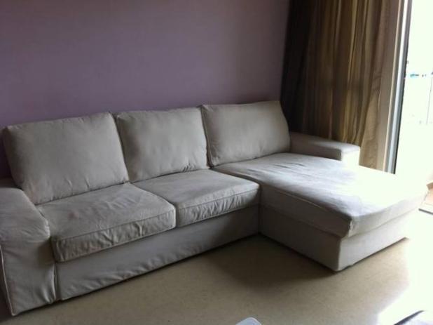 Kivik sofa and chaise lounge for Kivik 2 posti