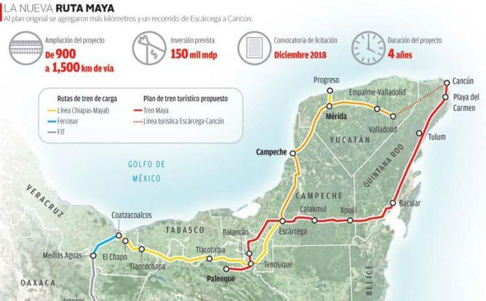 Resultado de imagen para ruta tren maya