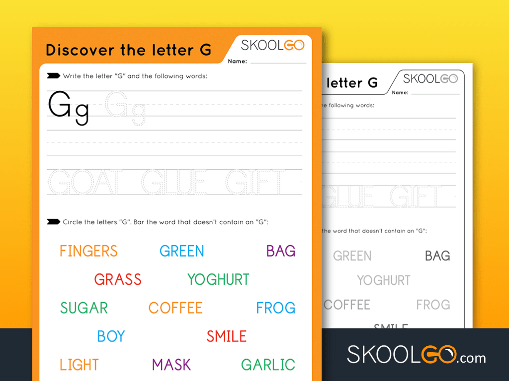 Discover The Letter G