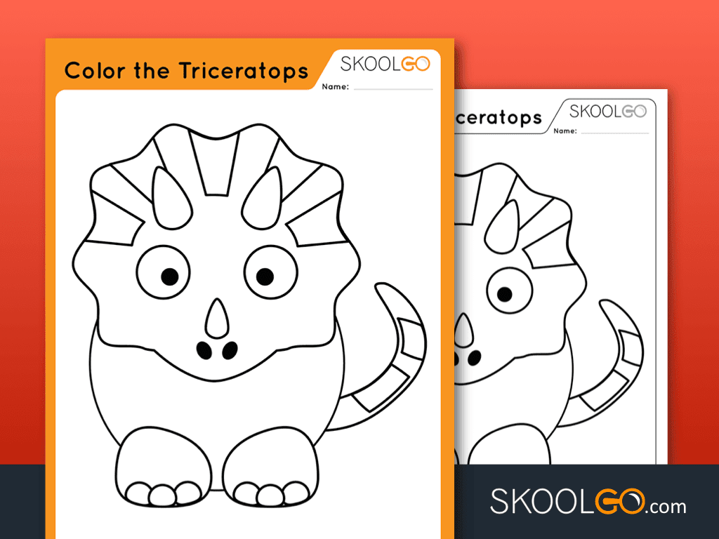 Color The Triceratops