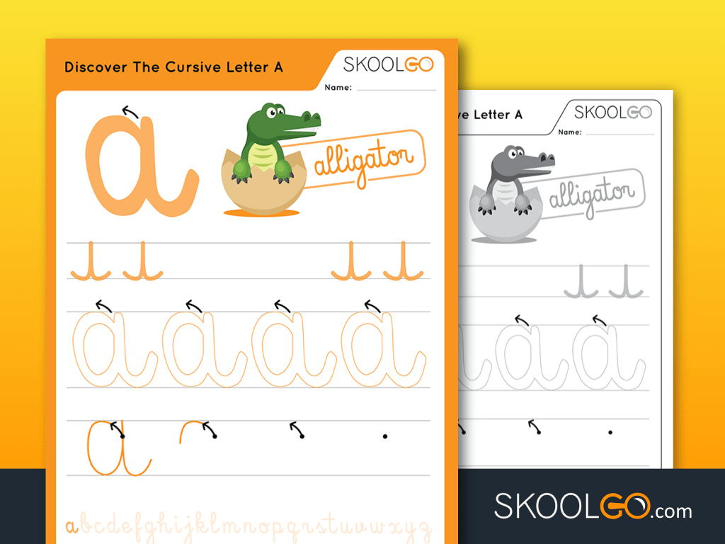 Discover The Cursive Letter A