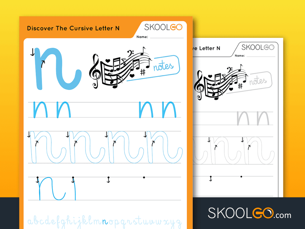 Discover The Cursive Letter N