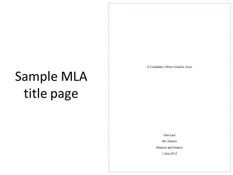 mla formatting title page Join the mla mailing list you'll get updates sent directly to your in-box about mla style and the annual convention, along with calls for papers.