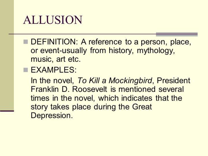 Allusion Poem Definition Poemview