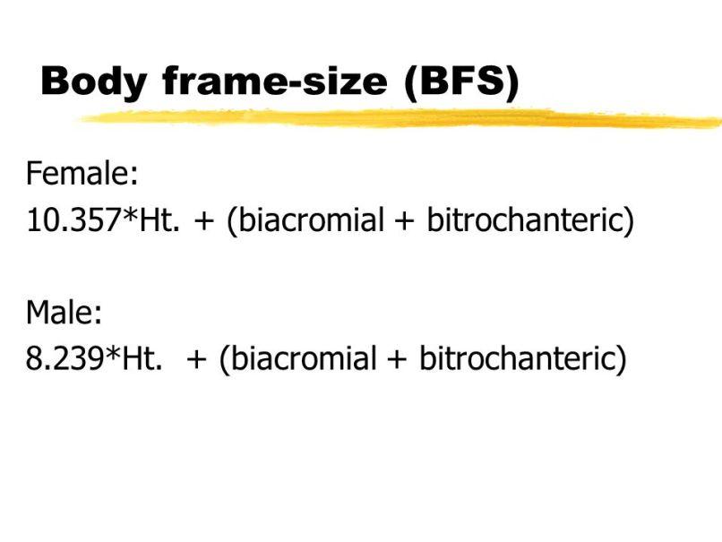 Female Body Frame Size   Framesite.co