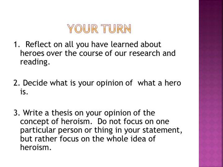 heroism essay example