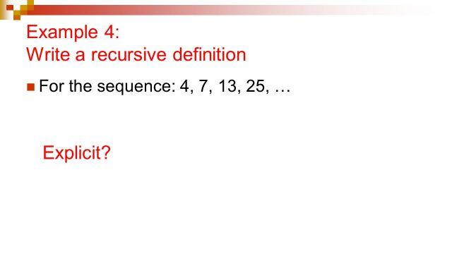 19.19: Arithmetic and Geometric Sequences Recursive Definitions