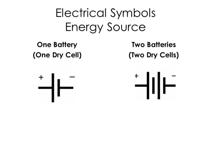One Dry Cell Symbol Diydrysite