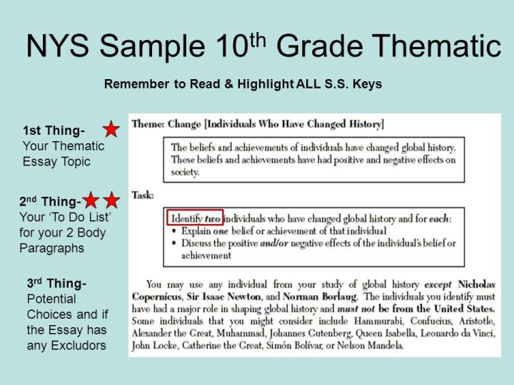 Thematic Essay Topics Global History Regents Poemsview Co