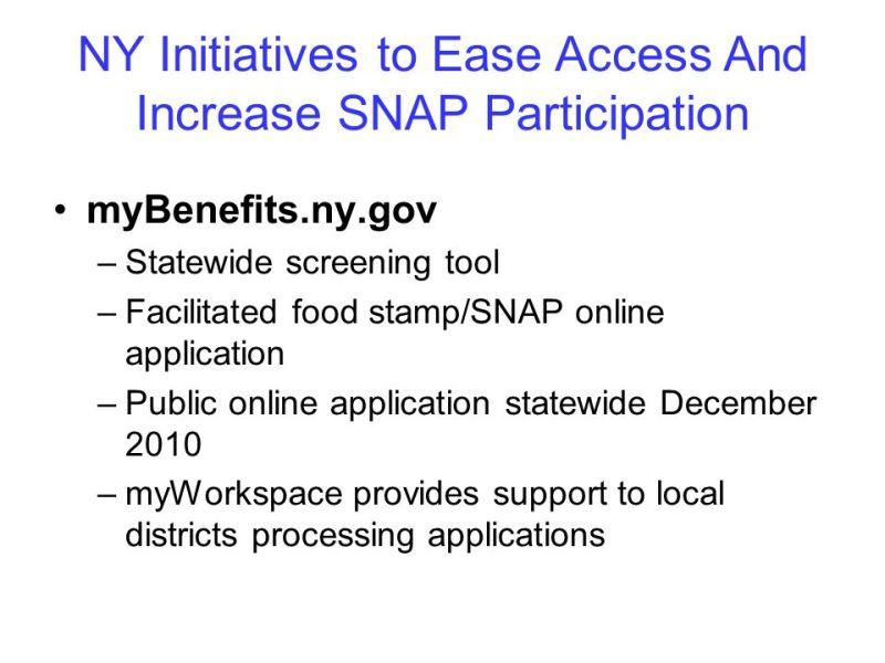 Buffalo New York Food Stamp Application